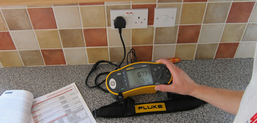 testing the electrics in a domestic property